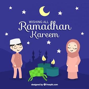 Piękny ramadan nocy tła