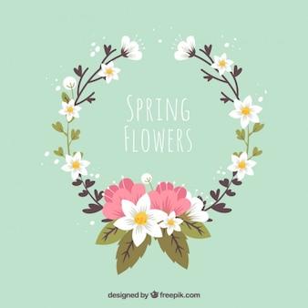 Piękny wieniec kwiatów