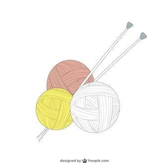 Piłka z wełny