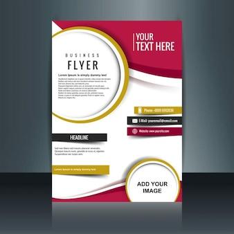 Piękne biznesowych broszura