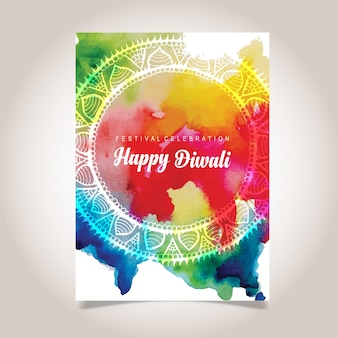 Plakat Akwarela Diwali