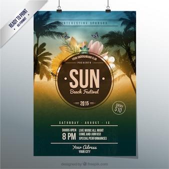 Plakat festiwalu plaży słońce