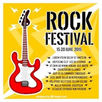 Plakat festiwalu rocka