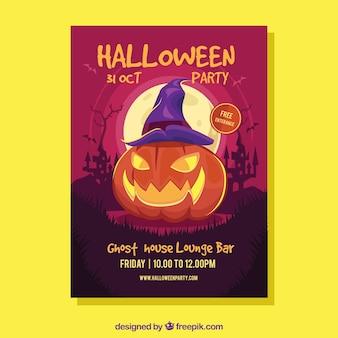 Plakat Halloween z dyni