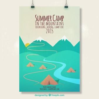 Plakat obóz letni