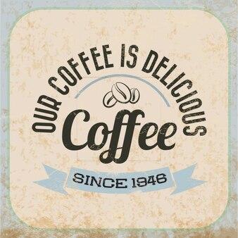 Plakat z pysznej kawy