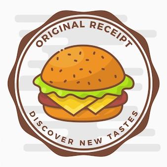 Plakietka Hamburger Logo