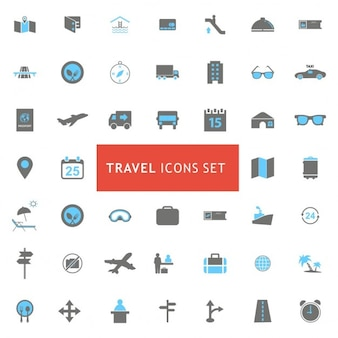 Podróż zestaw ikon