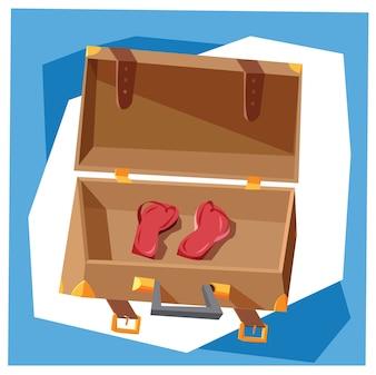 Podróże cartoon obiektów wektorowych ilustracji do projektowania