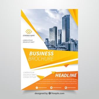 Pomarańczowa broszura biznesowa