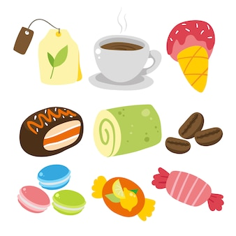 Popołudniowa kolekcja elementów herbaty