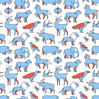 Popularne ikony zwierząt dzikich zwierząt życia