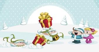 Postacie świąteczne Paczka