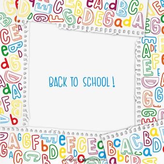 Powrót do szkoły ramki wektora