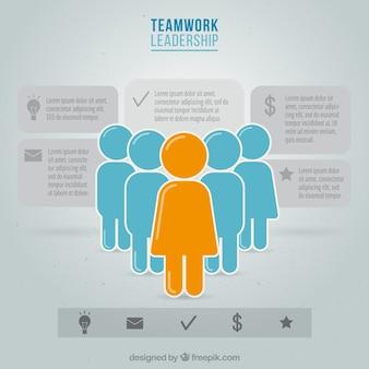Praca zespołowa infografia