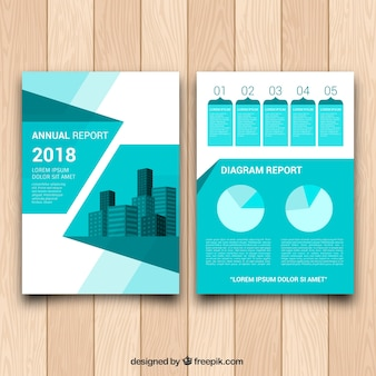 Profesional broszura z geometrycznym stylem