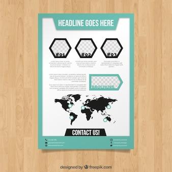 Profesjonalna broszura z geometrią