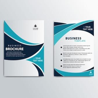 Profesjonalne nowoczesny biznes broszura