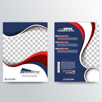 Profesjonalny abstrakcyjna broszura