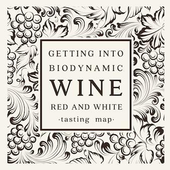 Projekt etykiety wina