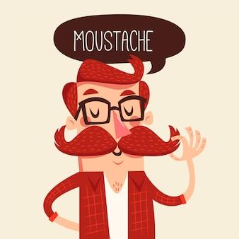 Projekt Movember ze śmiesznym mężczyzną