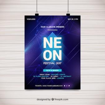 Projekt plakatu z neonem