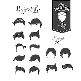 Projekt wektora włosów