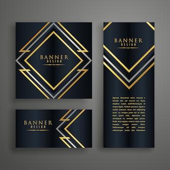 Projekt złotej karty zaproszenia
