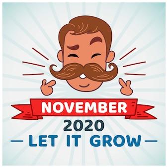 Projektowanie tła Movember