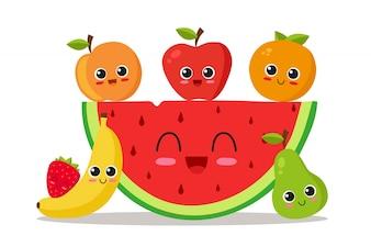 Projektowanie tła owoców