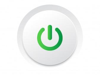 Proste okrągły odtwarzanie UI przełącznik przycisk wektora vector format