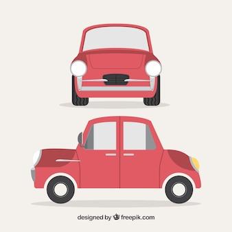 Przedni i boczny widok rocznika samochodu