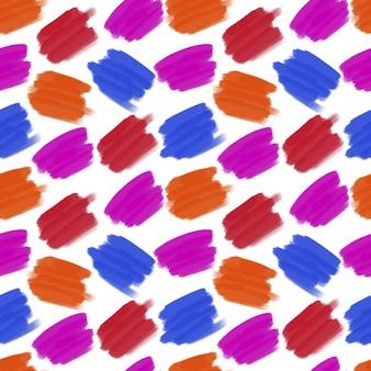 Przeprowadzające kolory szwu niebieski redpink kolorowych plam