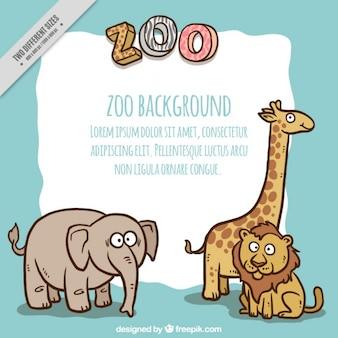Przyjemne zwierzęta zoo tle