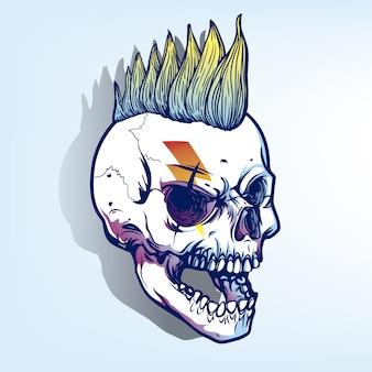 Punky czaszki tle