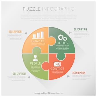Puzzle infografika
