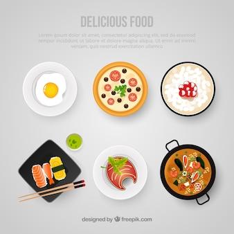 Pyszne jedzenie szablonu