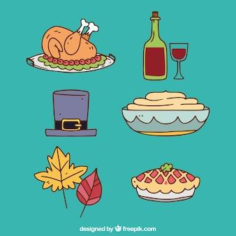 Pyszny pakiet żywności dziękczynienia