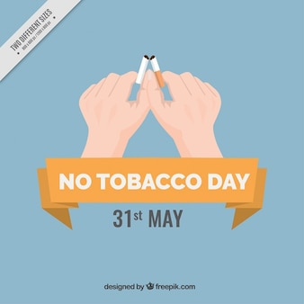 Ręce zerwania tło papierosów