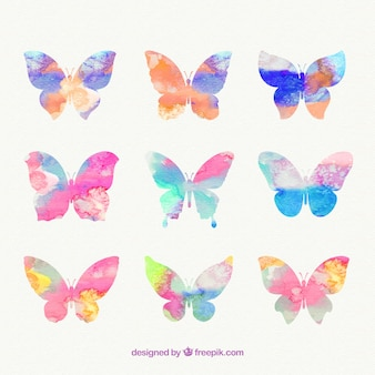 Ręcznie malowane motyle