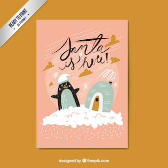 Ręcznie rysowane Święty jest tutaj karta