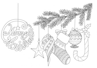Ręcznie rysowane elementy Boże Narodzenie
