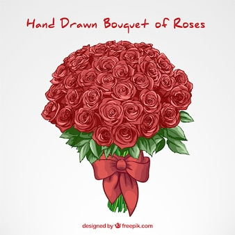 Ręcznie rysowane róż