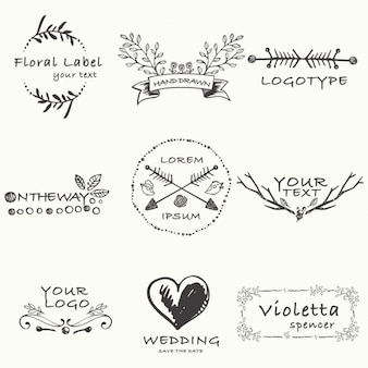 Ręcznie rysowane szablon logo