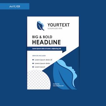 Raport roczny broszura ulotka, niebieski projekt okładki, spa, reklama, reklamy w czasopismach, katalog