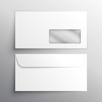 Realistyczna makieta szablon koperty