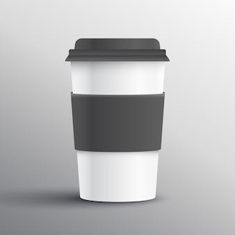Realistyczne kubek kawy szablon projektu obiektu