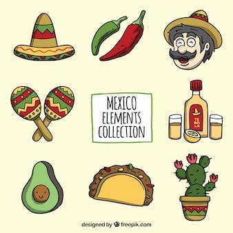 Realistyczne meksykańskie elemenst