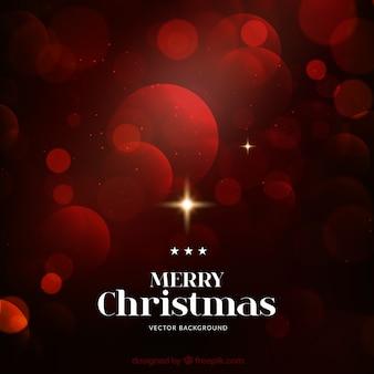 Red bokeh Boże Narodzenie w tle