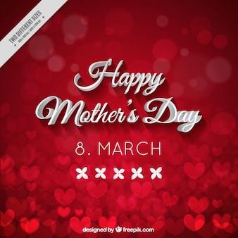 Red Dzień Matki tło pełne serc